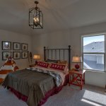 Hepton secondary bedroom with vaulted ceiling
