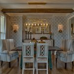 Hepton dining room with beamed ceiling