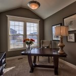 Irving home office with vaulted ceiling