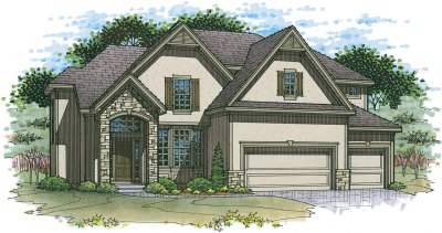 Lancaster EX elevation 6 color rendering
