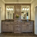 Lancaster III master bath with double vanity and painted cabinets