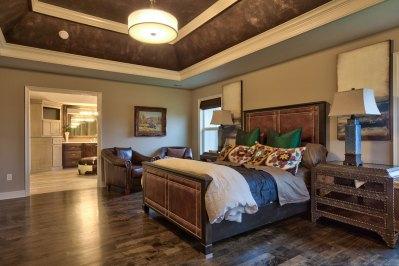 Larsen II master bedroom with access to master bath