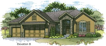 Monterey elev. B color rendering