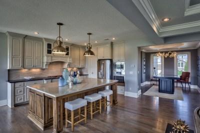 Larsen EX stained kitchen island