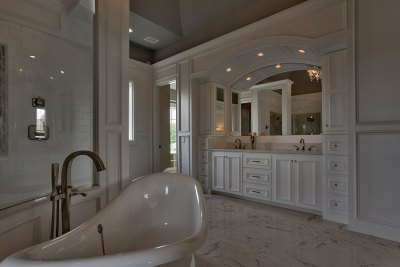 Raphael master bath double vanities