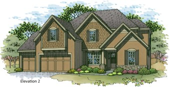 Roanoke elevation 2 color rendering
