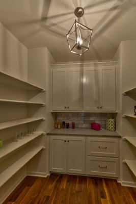 Summerlin EX pantry with white cabinets