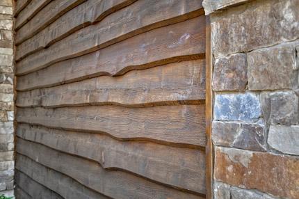 Wavy Cedar Siding of the Telluride