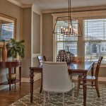 Wakefield dining room with white enamel trim