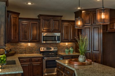Wakefield kitchen stained cabinets