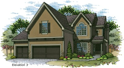 Weston III Elev. 3 color rendering