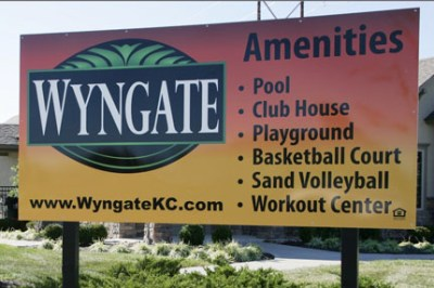 Wyngate sign listing amenities