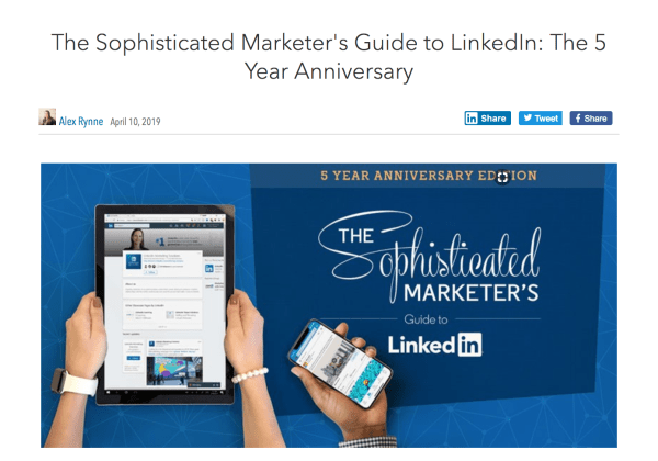 LinkedIn Relaunches The Sophisticated Marketers' Guide
