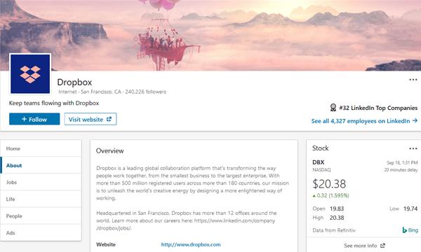 Dropbox LinkedIn Image