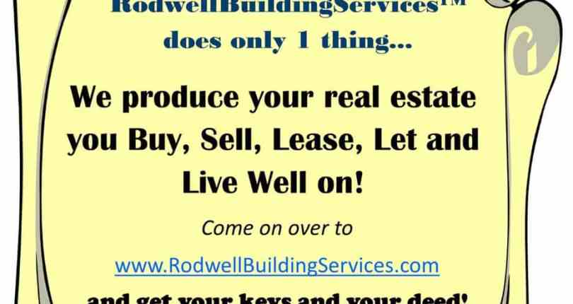 Attention: RodwellBuildingServices does just 1 thing…