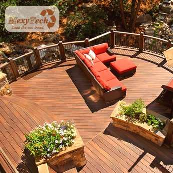 high performance composite decking used in garden