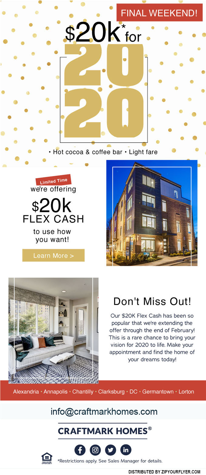 Who Else Don't Want to Miss Out? Craftmark's $20K for 2020 Sale!