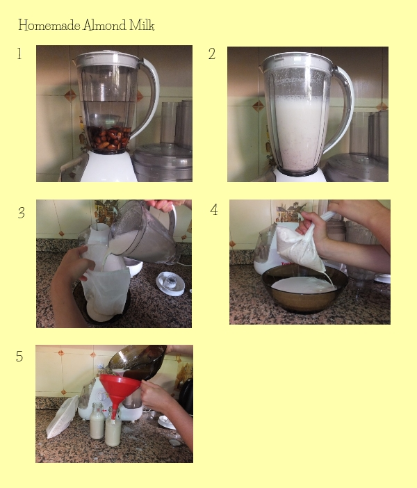 almond milk making