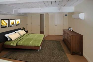 Bedroom accommodates king size bed and plenty of furniture