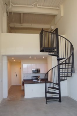 Williamsburg II kitchen and stairs
