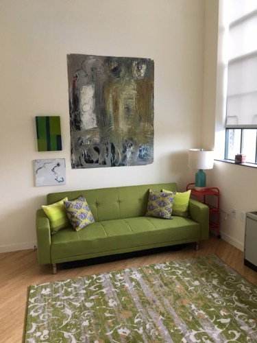 couch and painting