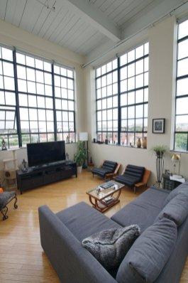 Living room area, looking west