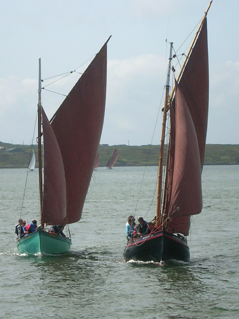 Heir Island Lobster Boat and Galway Hooker