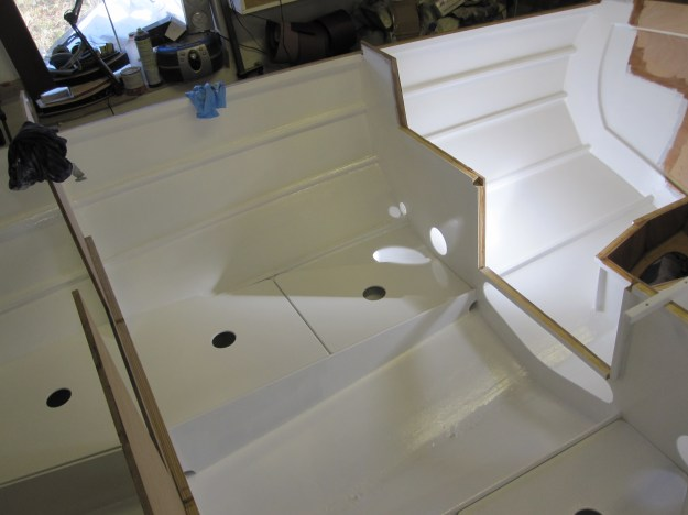 Epoxy Coating And Painting Interior Of 21 Cape Henry Gaff