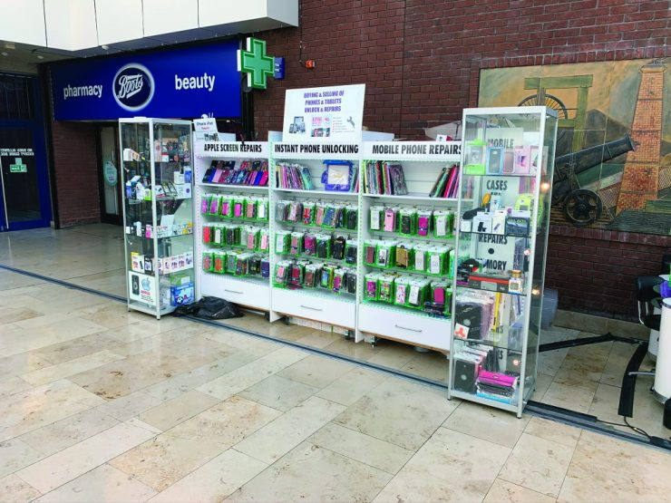 Mobile phone stall