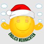 Smiley –Endlich Weihnachten