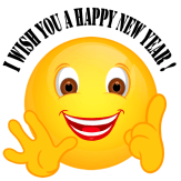 Smiley – I wish you a happy new year!