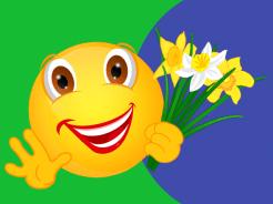Smiley – drei Narzissen