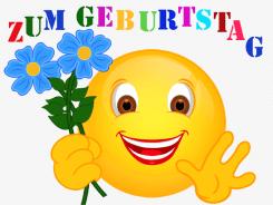 Smiley – Zum Geburtstag