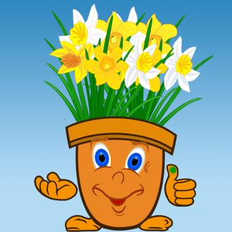 Blumentopf_mit_Narzissen