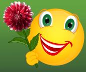 Smiley mit Dahlie gefüllt
