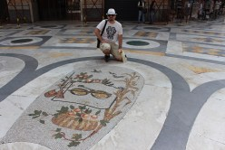 Fast forward to Napoli. This is the first mall in the world, but stands unfinished. Here I am with my zodiac sign.