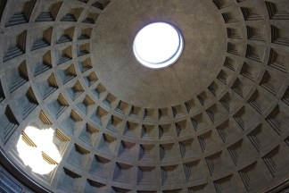 We visited the Pantheon again to take a peek at the impressive dome.