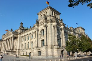 Here's a better look at Reichstag. You can only enter by reservation or face long queues. Luckily we had one for the next day!