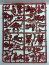 The entire sprue holds the rest of the terminators. Each terminator is comprised of no more than 4 pieces.