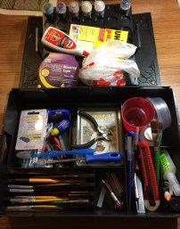 I packed the majority of my most essential tools into the box.