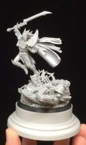 Here's a hint at how it will look in the end, with the resin plinth. The Plinth is from Secret Weapon Miniatures.