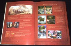 I skipped to the end here - it shows a series of Horus Heresy products to familiarize the players of the setting.