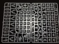 The sprue with the regular marines. This sprue comes three times. There's plenty of spare parts for the 30 marines total.