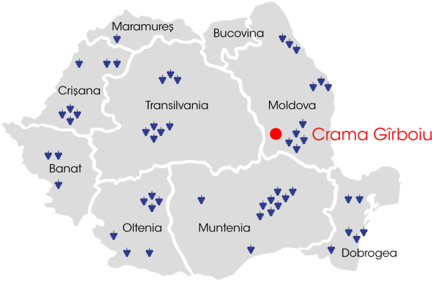 Map Crama Girboiu