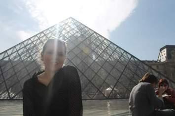 Rayo de sol en el Louvre