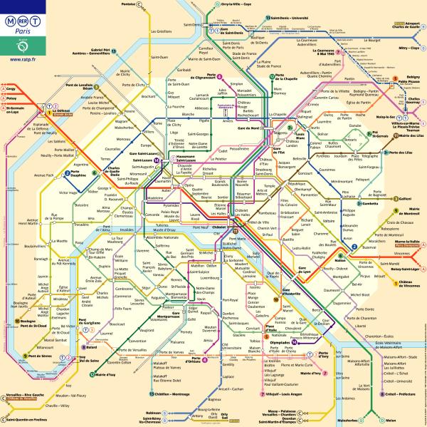 Plano metro París