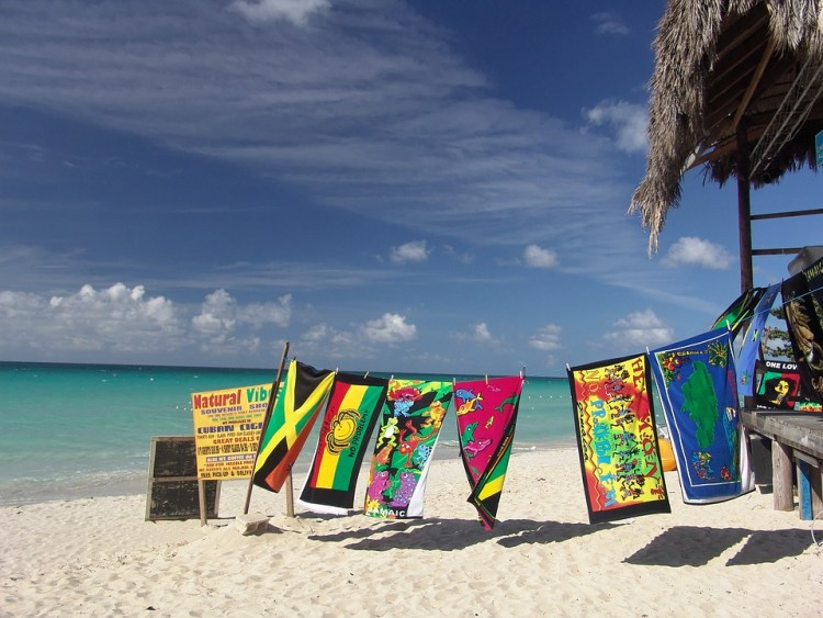 Una playa de Jamaica