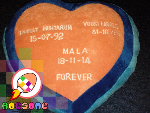 souvenir bantal ulang tahun