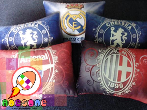 Boneka Bantal Fans Klub Barcelona, Juventus, MU Manchester United