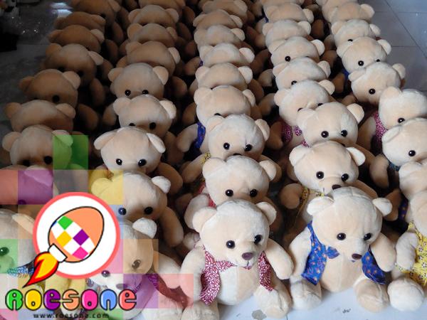 Boneka Teddy Bear Batik Lucu